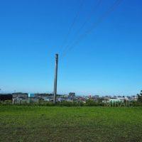 近くの空き地から宮崎市街を眺める、絶景です。