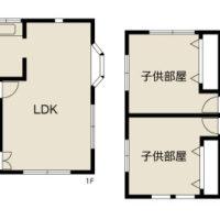 4LDK+S、土地254.87㎡(約77.1坪)、建物144㎡(約43.56坪)のゆとりある家