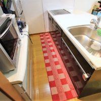 オープンタイプのキッチンで明るく開放感があります。リビングとの繋がりを感じられる対面キッチンです。