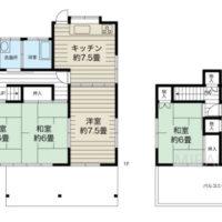 部屋をそれぞれに区切った昔ながらの空間をそのまま生かしても良いですし、LDKを少し広げても良いかなと思います。