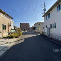開発された住宅地は前面道路も広いです