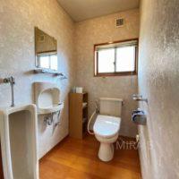 トイレは男性用もありますが、ここは撤去して広い手洗いを造作したら素敵だろうなと思います。