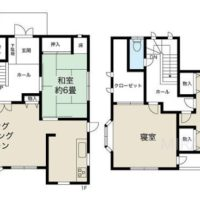 約40坪の建物で3LDKなのでどのお部屋も広いです。2階の洋室はセパレートして4LDKの間取りに変更もできます。