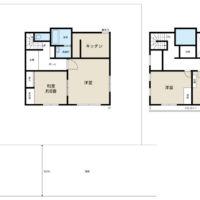 4LDKの間取りですが、部屋数が足りれば、思い切って1階居室を広いリビングにしても気持ち良いだろうと思います。